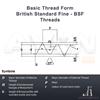 "Picture of BSF 1 3/8"" x 8 - Split Circular Die HSS (OD: 3"")"