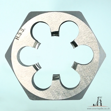 "Picture of 3/16"" x 24- BSW Hex Die Nut HSS"