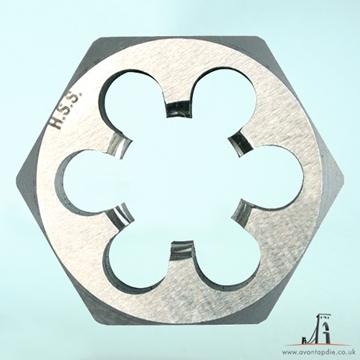 Picture of M7 x 1 - Metric Hex Die Nut HSS