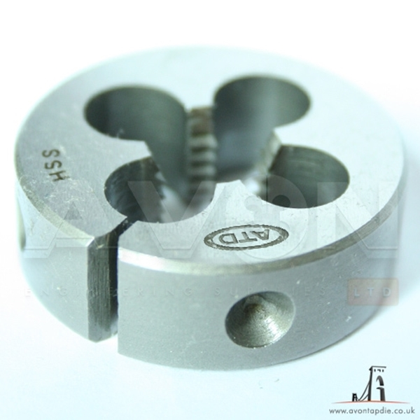 "Picture of M3 x 0.5 - Split Circular Die HSS (OD: 13/16"")"