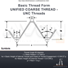"""Picture of UNC 1/2"""" x 13 - Hex Die Nut HSS"""