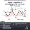 """Picture of NPT 1.1/4"""" x 11.5 - Hex Die Nut HSS"""