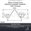 """Picture of UNC 1.7/8"""" x 4.5 - Hex Die Nut HSS"""