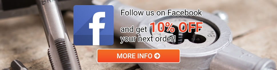 10% off your next order when you follow us on Facebook