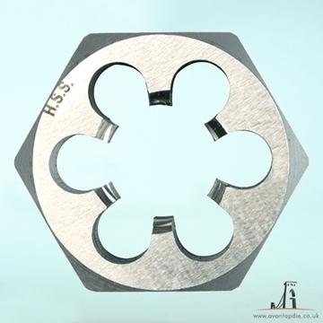 Picture of M6 x 0.5 - Metric Hex Die Nut HSS