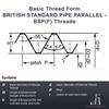 "Picture of BSPP 1/8"" x 28 - Split Circular Die HSS (OD: 1"")"