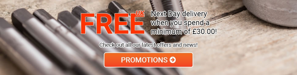 Free Next Day Delivery when you spend a minimum of £25
